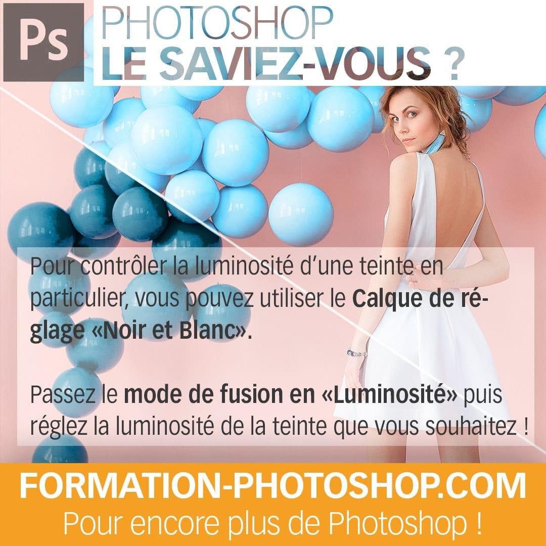 Modifier la luminosité d'une teinte dans Photoshop
