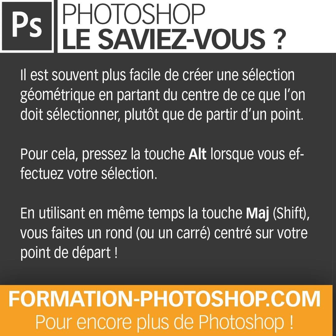 astuce photoshop sélection centrée